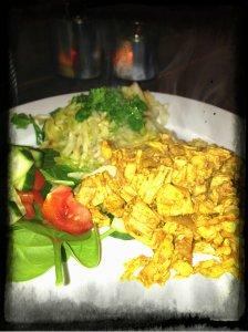 grillad curry kyckling