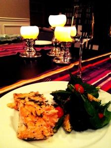 oven baked salmon orange vinigrette